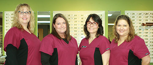 Staff of visionary eye care